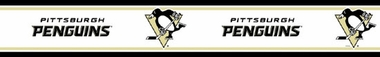 Pittsburgh Penguins Peel and Stick Wallpaper Border