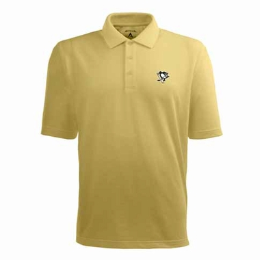 Pittsburgh Penguins Mens Pique Xtra Lite Polo Shirt (Color: Gold)