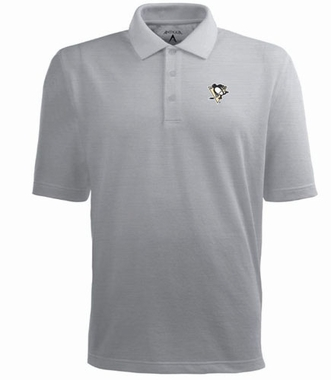 Pittsburgh Penguins Mens Pique Xtra Lite Polo Shirt (Color: Gray)