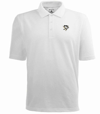 Pittsburgh Penguins Mens Pique Xtra Lite Polo Shirt (Color: White)