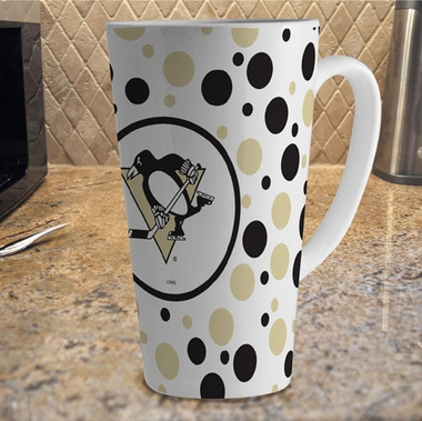 Pittsburgh Penguins Polkadot 16 oz. Ceramic Latte Mug
