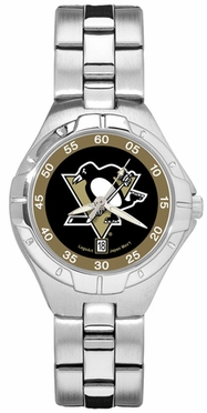 Pittsburgh Penguins Pro II Women's Stainless Steel Watch