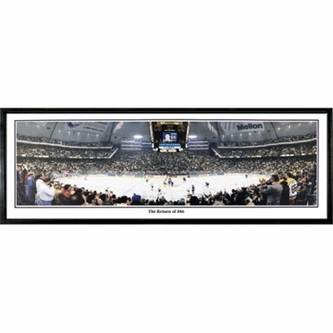 Pittsburgh Penguins Return of #66 Framed Panoramic Print