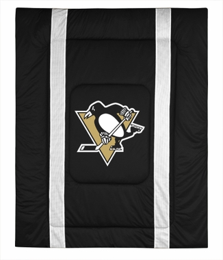 Pittsburgh Penguins SIDELINES Jersey Material Comforter