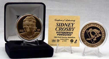Pittsburgh Penguins Sidney Crosby 24KT Gold Coin