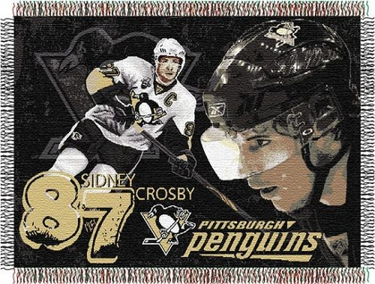 Pittsburgh Penguins Sidney Crosby Jacquard Woven Blanket
