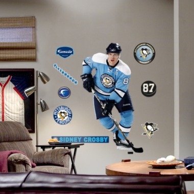 Pittsburgh Penguins Sidney Crosby Retro Blue Jersey Fathead Wall Graphic