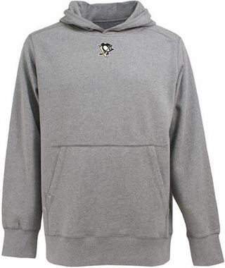 Pittsburgh Penguins Mens Signature Hooded Sweatshirt (Color: Gray)