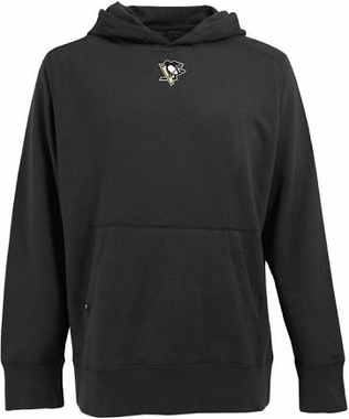 Pittsburgh Penguins Mens Signature Hooded Sweatshirt (Color: Black)