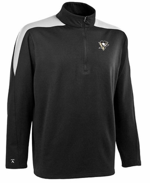 Pittsburgh Penguins Mens Succeed 1/4 Zip Performance Pullover (Team Color: Black)