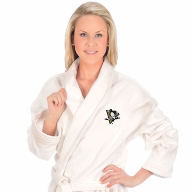 Pittsburgh Penguins UNISEX Bath Robe (White)