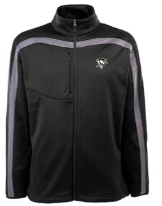 Pittsburgh Penguins Mens Viper Full Zip Performance Jacket (Team Color: Black) - Large