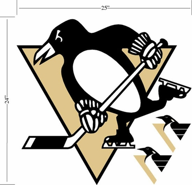 Pittsburgh Penguins Wallmarx Large Wall Decal