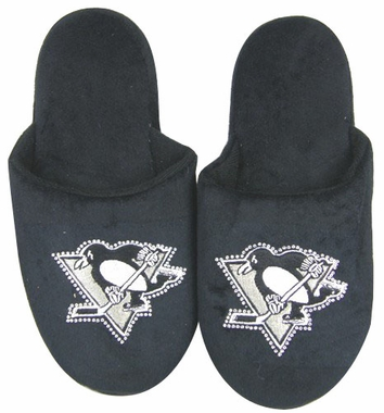 Pittsburgh Penguins Womens Jeweled Slippers