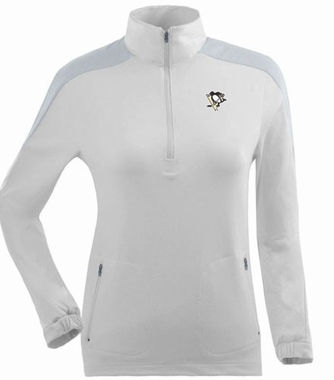Pittsburgh Penguins Womens Succeed 1/4 Zip Performance Pullover (Color: White)