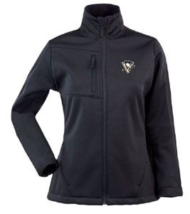 Pittsburgh Penguins Womens Traverse Jacket (Team Color: Black) - Large