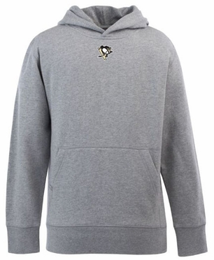 Pittsburgh Penguins YOUTH Boys Signature Hooded Sweatshirt (Color: Gray)