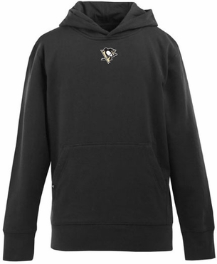 Pittsburgh Penguins YOUTH Boys Signature Hooded Sweatshirt (Team Color: Black)