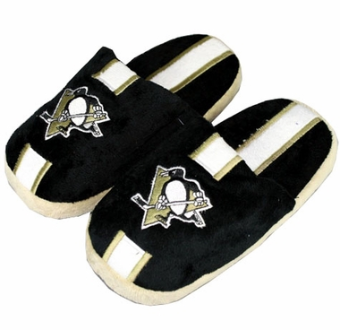 Pittsburgh Penguins YOUTH Team Stripe Slide Slippers