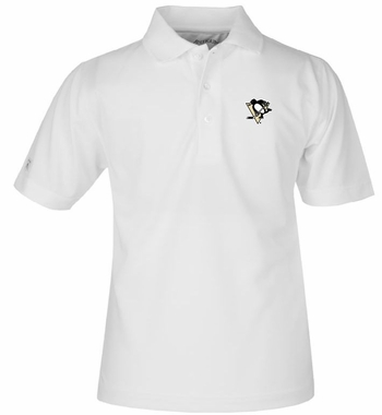 Pittsburgh Penguins YOUTH Unisex Pique Polo Shirt (Color: White)
