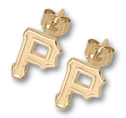 Pittsburgh Pirates 10K Gold Post or Dangle Earrings