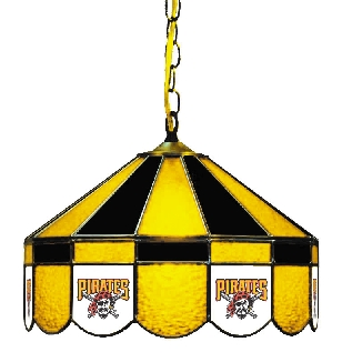 Pittsburgh Pirates 16 Inch Diameter Stained Glass Pub Light