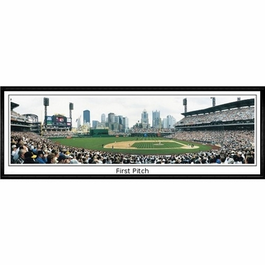 Pittsburgh Pirates 1st Pitch Framed Panoramic Print