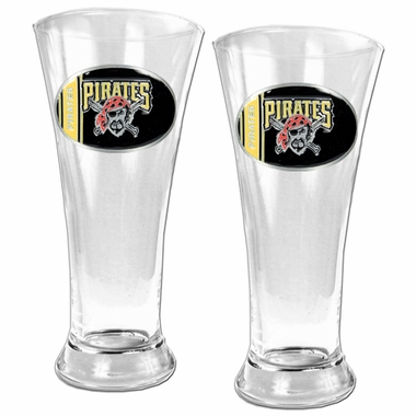 Pittsburgh Pirates 2 Piece Pilsner Glass Set