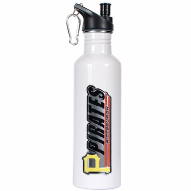 Pittsburgh Pirates 26oz Stainless Steel Water Bottle (White)