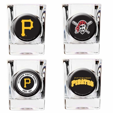 Pittsburgh Pirates 4 Piece Assorted Shot Glass Set