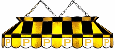 Pittsburgh Pirates 40 Inch Rectangular Stained Glass Billiard Light