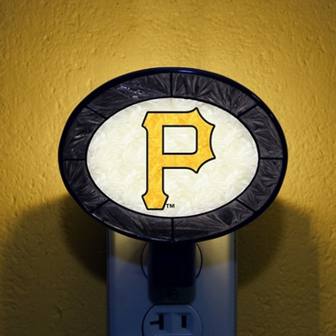 Pittsburgh Pirates Art Glass Night Light