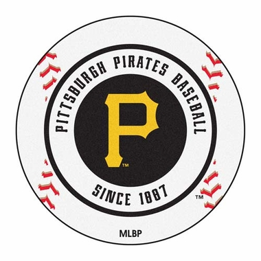 Pittsburgh Pirates Baseball Shaped Rug