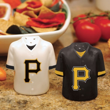 Pittsburgh Pirates Ceramic Jersey Salt and Pepper Shakers