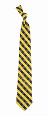 Pittsburgh Pirates Check Poly Necktie