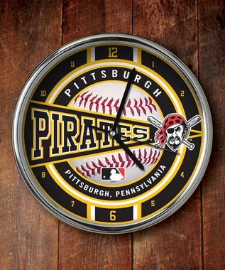 Pittsburgh Pirates Chrome Clock