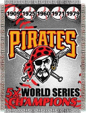 Pittsburgh Pirates Commerative Jacquard Woven Blanket