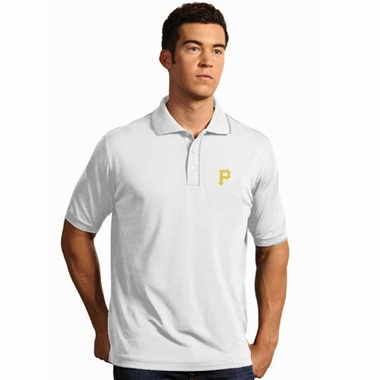 Pittsburgh Pirates Mens Elite Polo Shirt (Color: White)