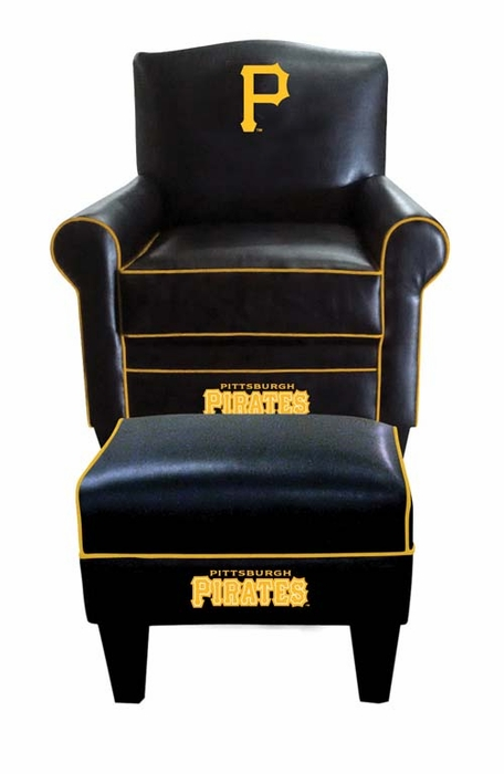 Pittsburgh Pirates Game Time Chair and Ottoman