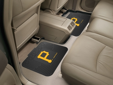 Pittsburgh Pirates SET OF 2 Heavy Duty Vinyl Rear Car Mats