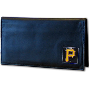 Pittsburgh Pirates Leather Checkbook Cover