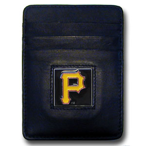 Pittsburgh Pirates Leather Money Clip (F)
