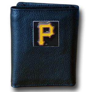Pittsburgh Pirates Leather Trifold Wallet (F)