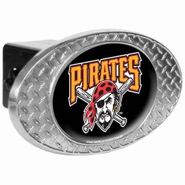 Pittsburgh Pirates Metal Diamond Plate Trailer Hitch Cover
