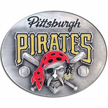 Pittsburgh Pirates Enameled Belt Buckle