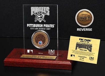 Pittsburgh Pirates PNC Park Infield Dirt Coin Etched Acrylic