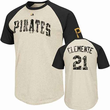 Pittsburgh Pirates Roberto Clemente Cooperstown All Star Player Raglan Premium T-Shirt
