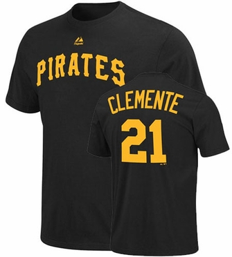 Pittsburgh Pirates Roberto Clemente Name and Number T-Shirt