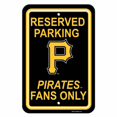 Pittsburgh Pirates Plastic Parking Sign (P)