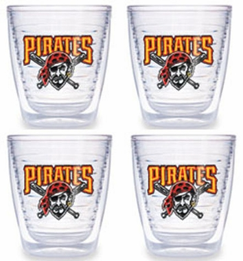 Pittsburgh Pirates Set of FOUR 12 oz. Tervis Tumblers